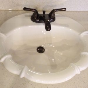 Fluer De Lis Cultured Marble Sink
