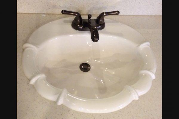 Fluer De Lis Cultured Marble Sink
