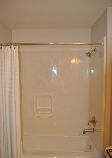 Shower with cultured marble