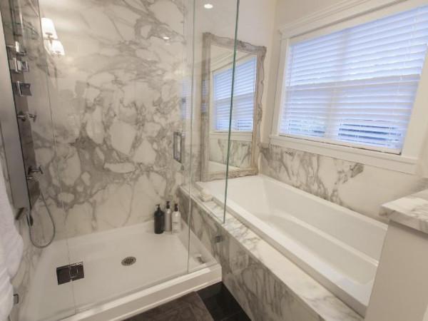 Bathroom with adjacent shower & tub