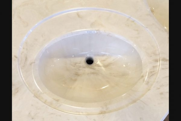 Recessed Oval Cultured Marble Sink