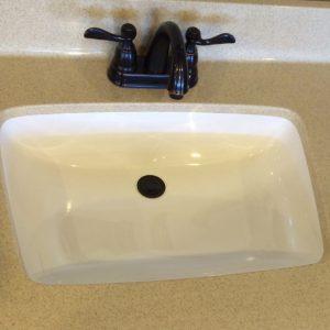 Super Bowl Cultured Marble Sink